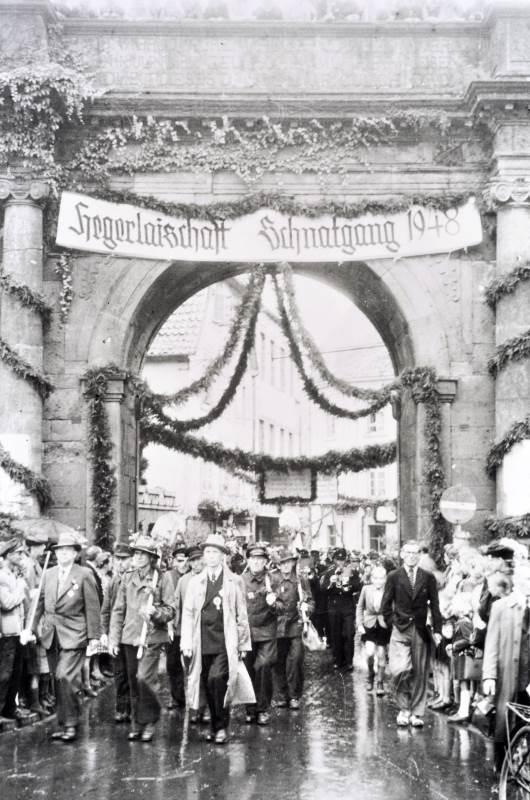 Schnatgang vor vor 70 Jahren