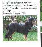 """UNSER CHAMPION :-) aus """"Unser Rassehund"""" 11/12"""