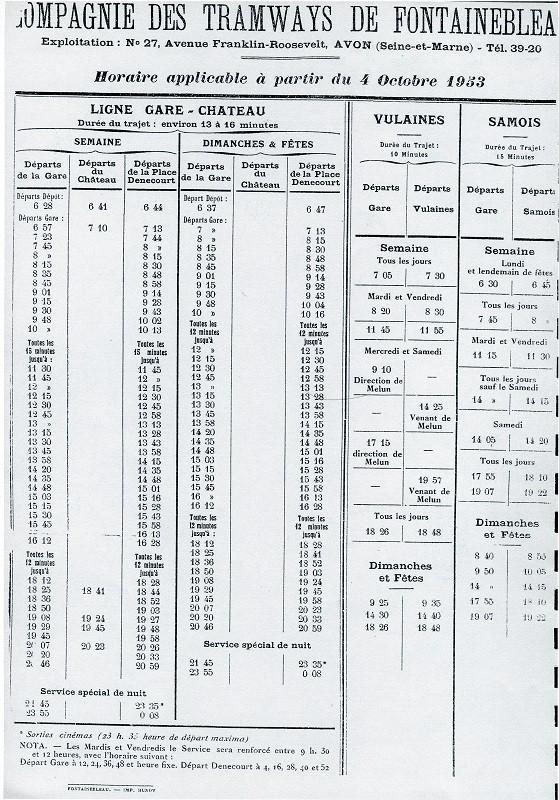 A l'automne 1953, le service des tramways est encore bien fourni.