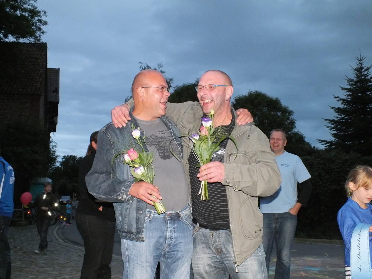 Die 2. Platzierten: Thilo Hartmann und Andreas Bruns (vo. links)