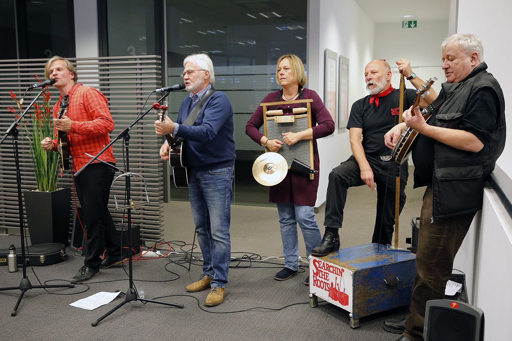 Searchin' the Roots in der Berliner Sparkasse, Foto: Antonia Richter