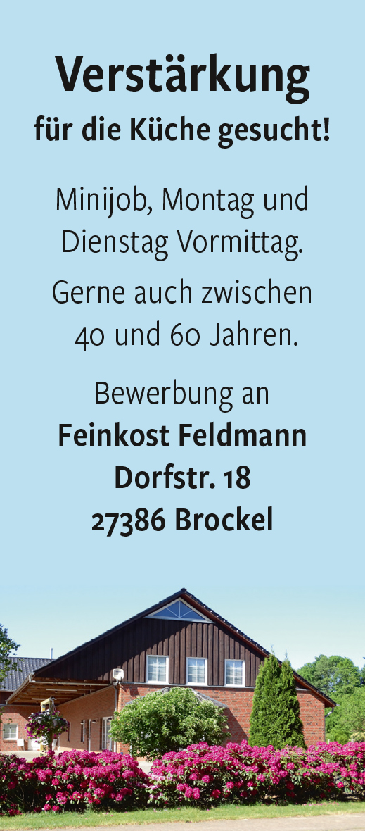 ROW / Brockel Feinkost Feldmann, Minijob, 450 E