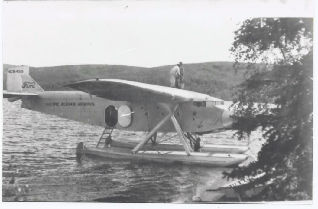 Pacific Alaska Airways single engine Ford at landing in 1934.