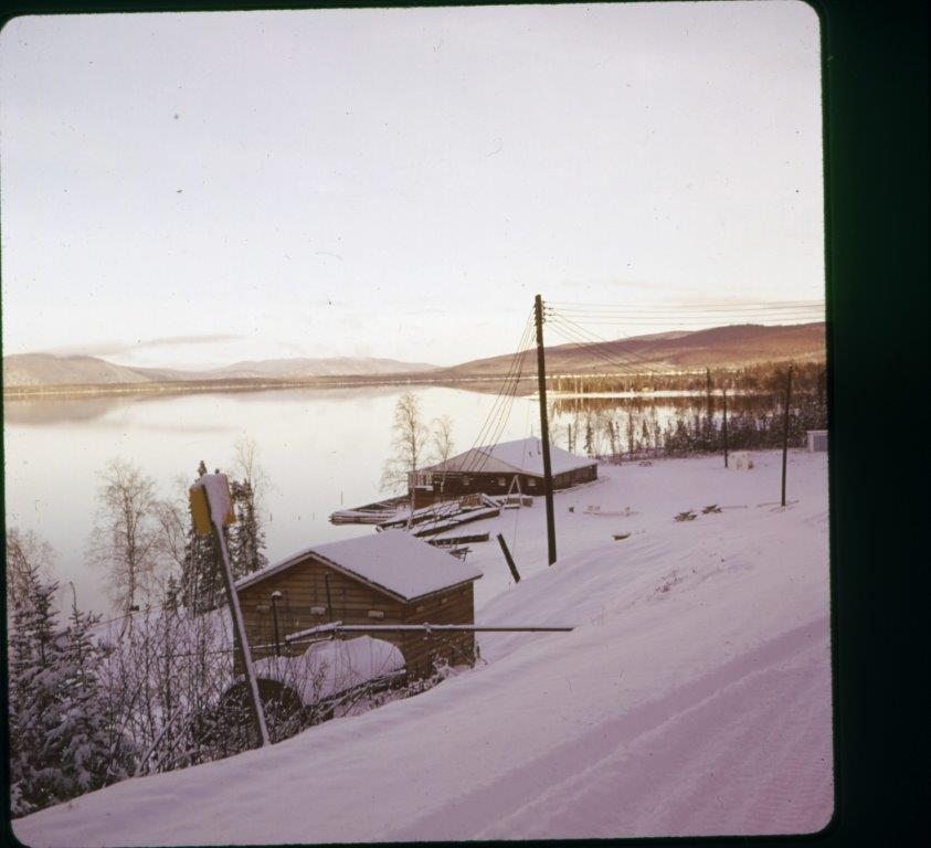 Early winter at old Military Camp Harding Lake 1950's