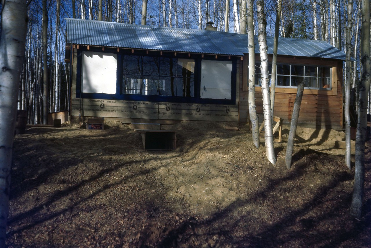 Additional view of Hanlon cabin at north end of lake 1940's.  Now location of Anderson home.