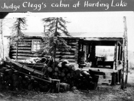 Judge Clegg's cabin at Harding Lake