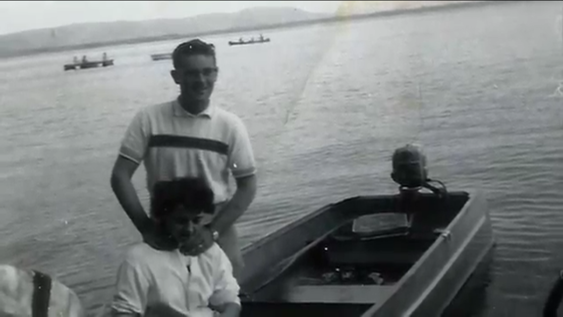 Bob and Chris Compeau Harding Lake early 1950's