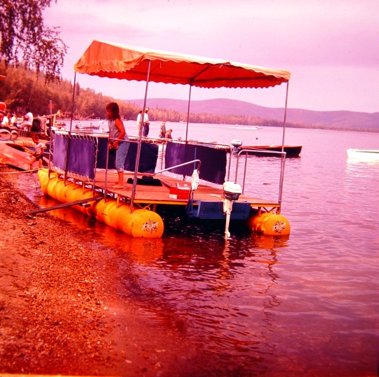 Party barge at Harding Lake in 1950's.