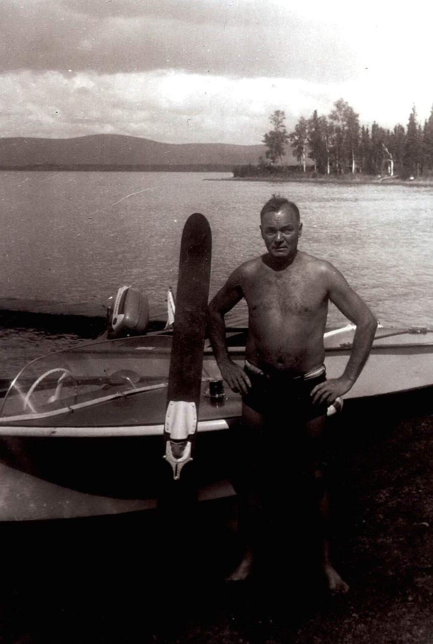 "1961 Warren ""Tillie"" Tilman who owed and subdivided 5 acres in the cove area by the point.  Point where Gordon cabin now sits clearly visible.  The Tilman family still owns property."