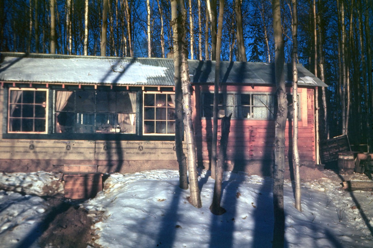 View of the Hanlon cabin at Harding Lake.  Where Andersn home is now situated.