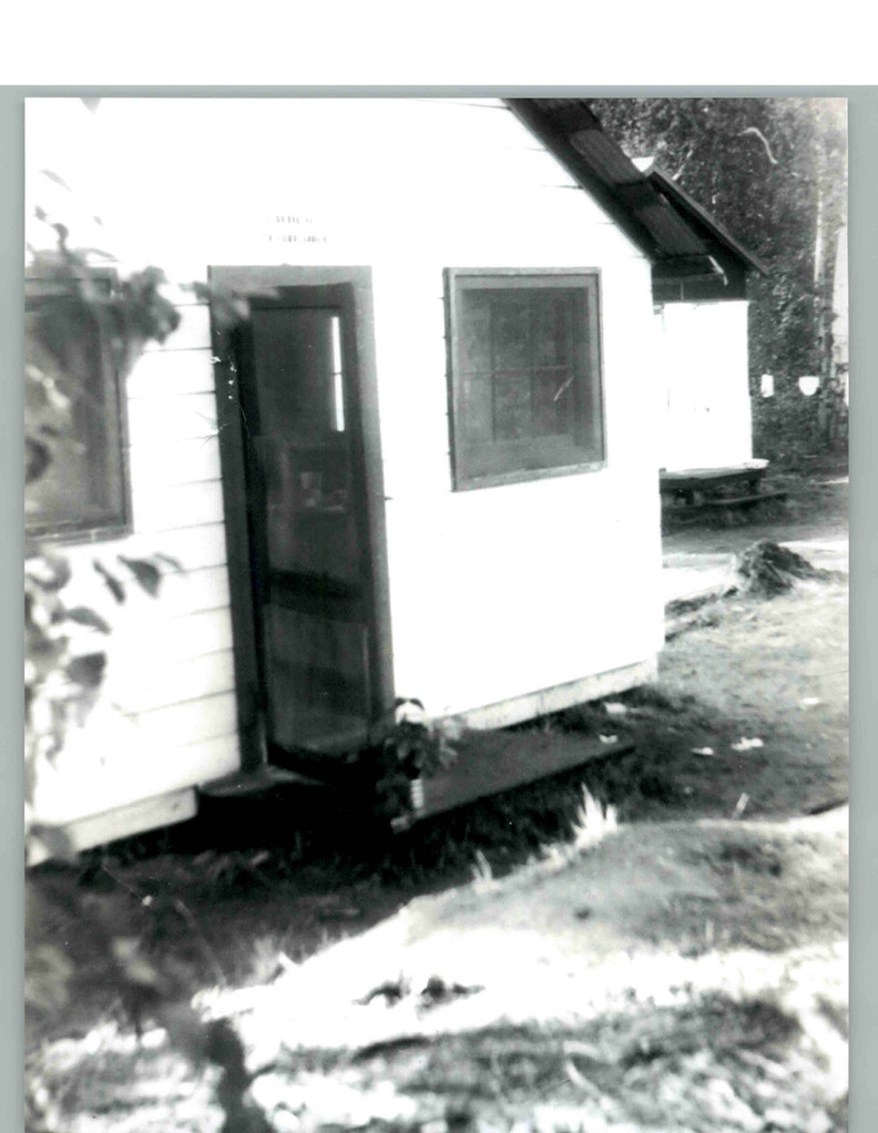 Cabins from the Junior Chamber of Commerce Camp at Harding Lake.  Camp was made available to local scout and church group.  The Junior Chamber of Commerce Camp was in active use in 1940's.  It is where the Shrine Camp and George Yurkovich cabin is located