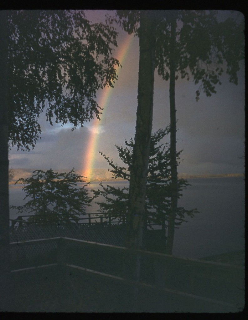 Harding Lake Rainbow looking North probably 1950's.