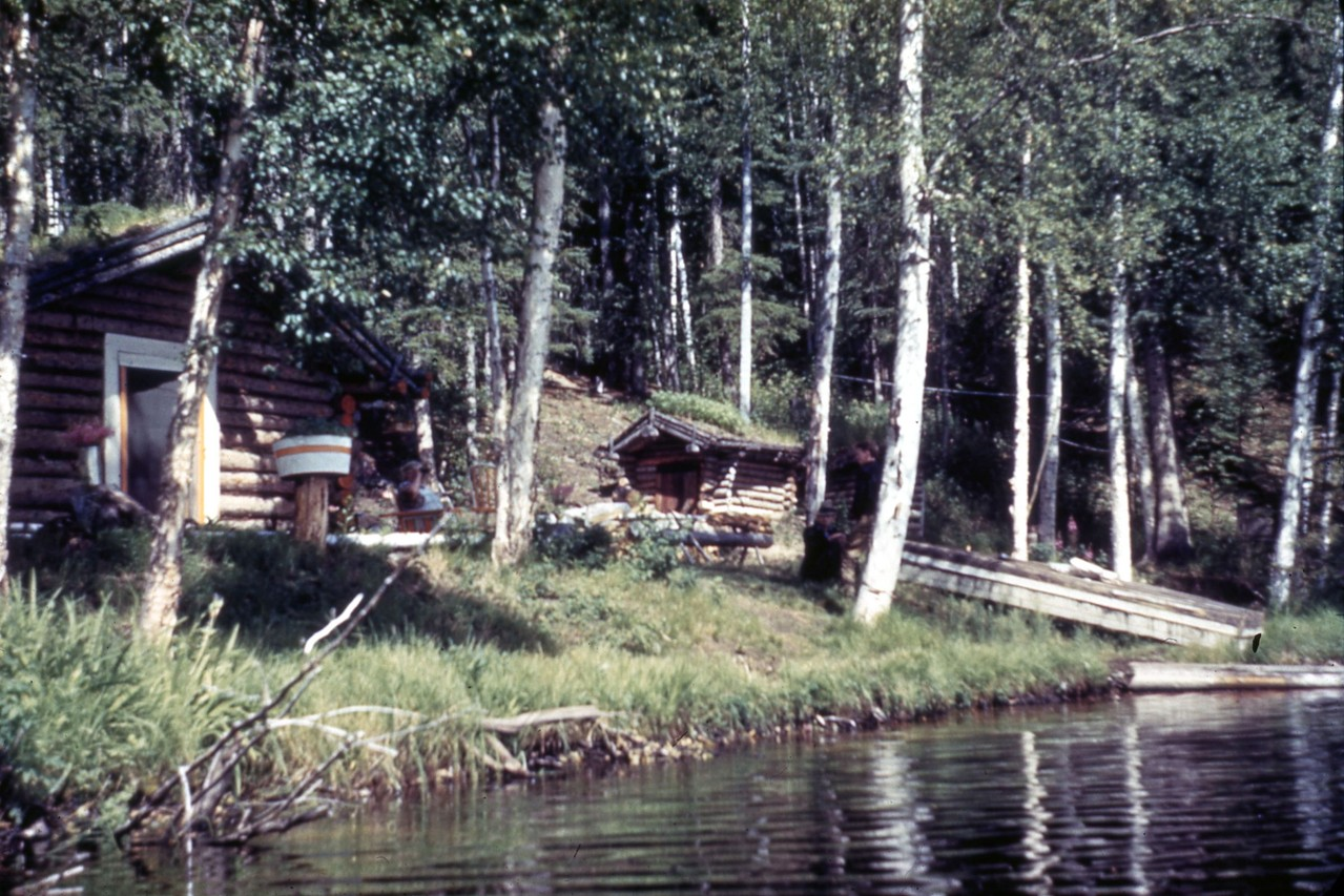 Cabin at Harding Lake in 1940's.  In the vicinity of where Warwick cabin sits today.