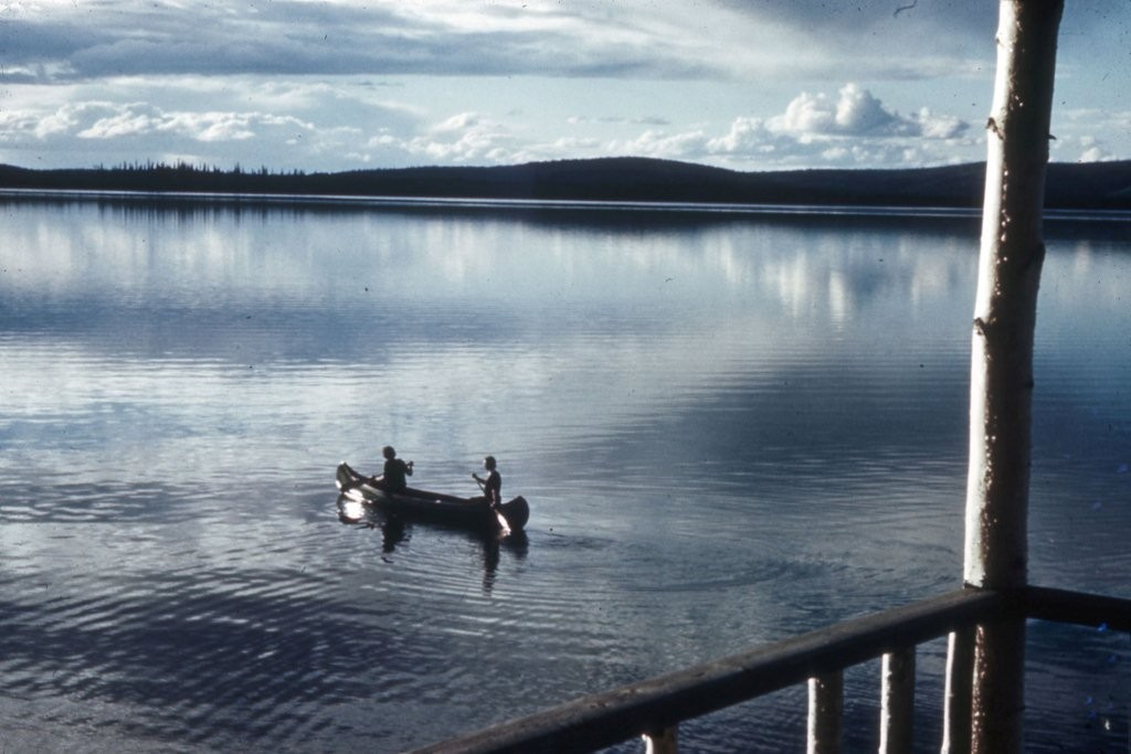 Additional photo of unknown canoers taken in the 1940's.