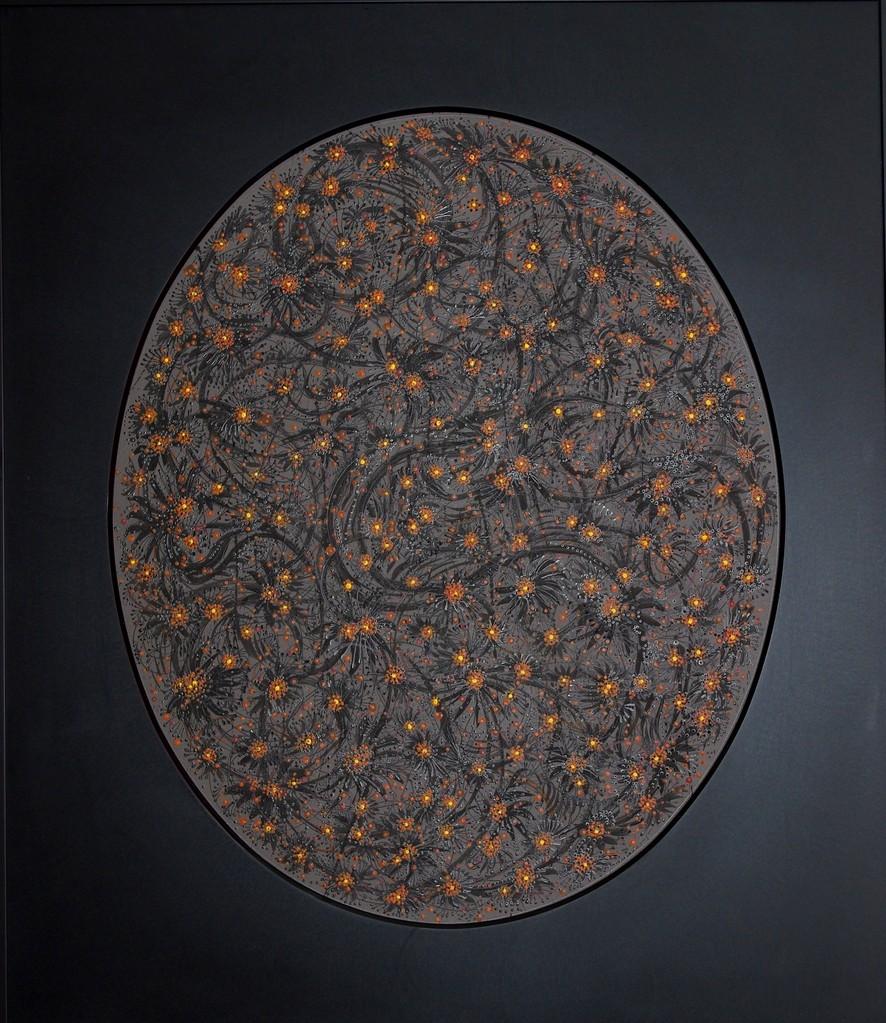 """"""" CONSTELLATION I """"  2009- Acrylique sur panneau-95x82cm."""