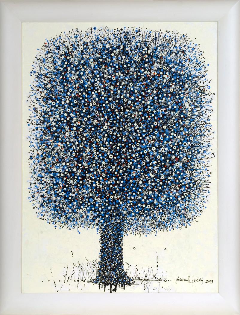 """"""" ARBRE I ( ORA ET LABORA ) """" 2013-Tech.mixte sur toile-100x73cm."""