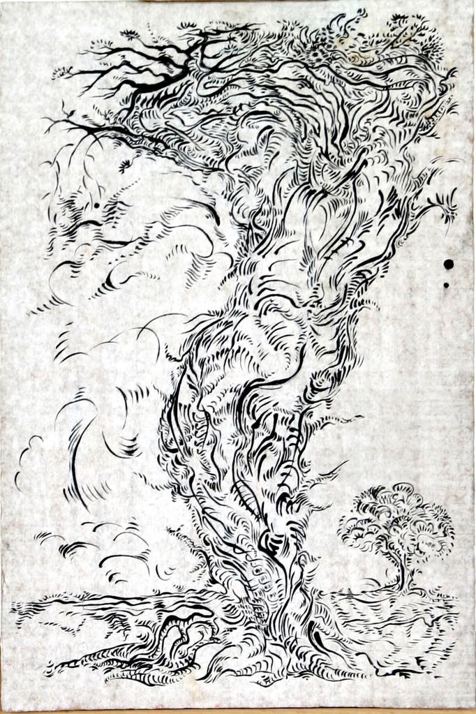 """"""" MÉTAMORPHOSE VII """"  2006- Encre sur papier-52x40cm."""