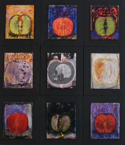 """"""" VANITAS """" 1996/2001-Tech.mixte sur toile-156x136cm."""