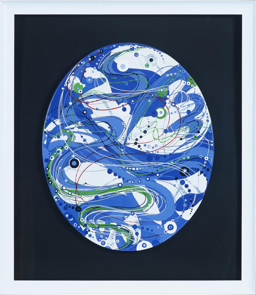 """"""" VAGUE """"  2012- Acrylique sur toile-84x73cm."""