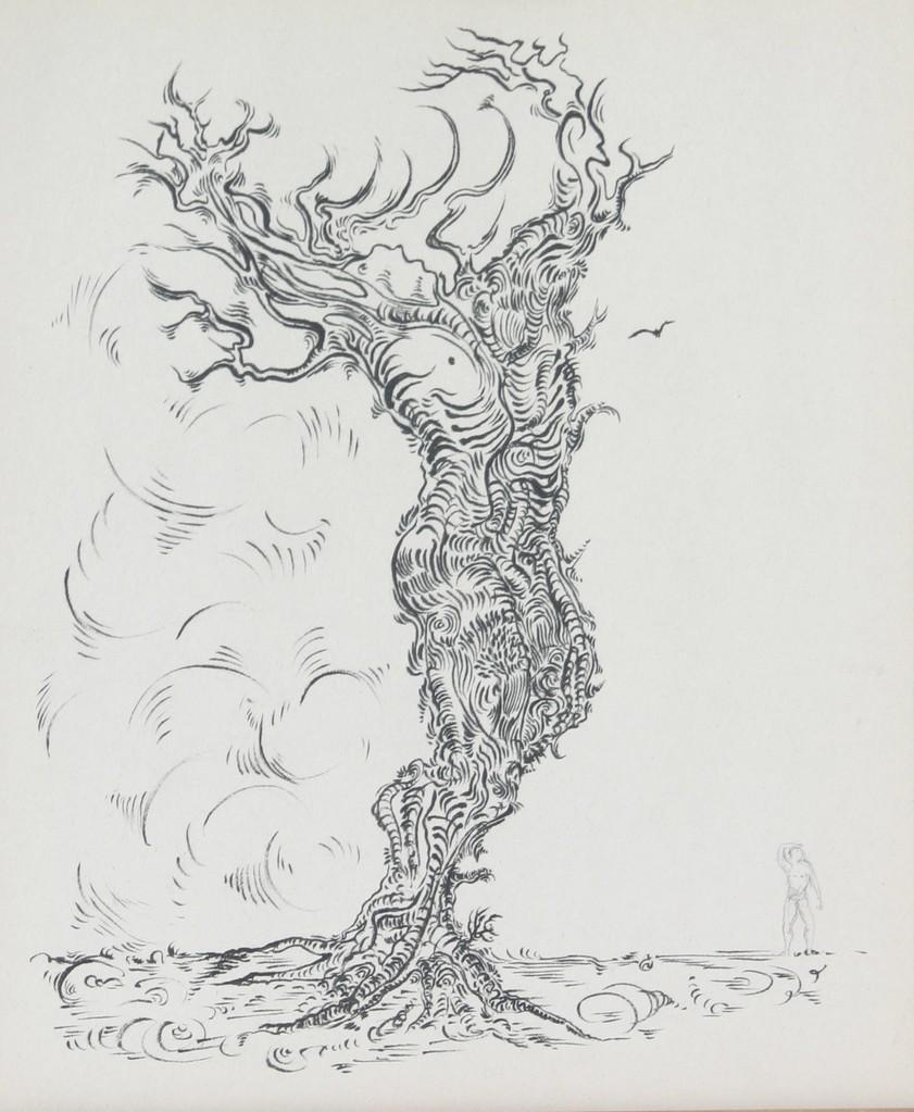 """"""" MÉTAMORPHOSE """" (DAPHNÉ)  2006- Encre sur papier-57x50cm."""