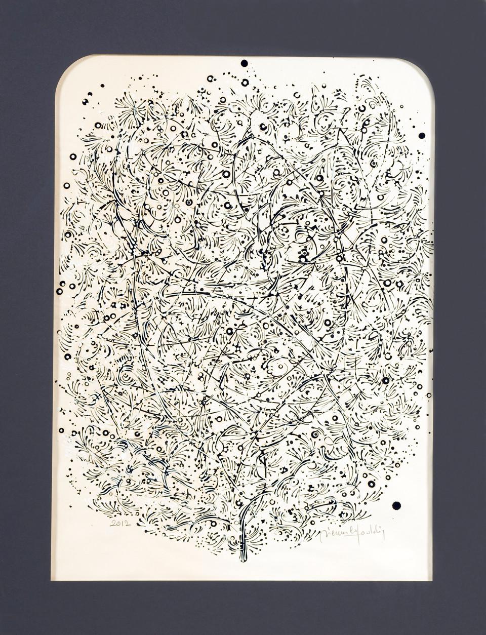 """"""" MARS """" 2012-Encre et acryl.sur papier-86x68cm."""