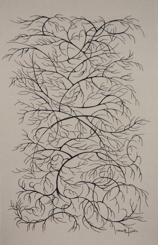 """ ARBRE ""  2008- Brodée main sur lin naturel-190x110cm."