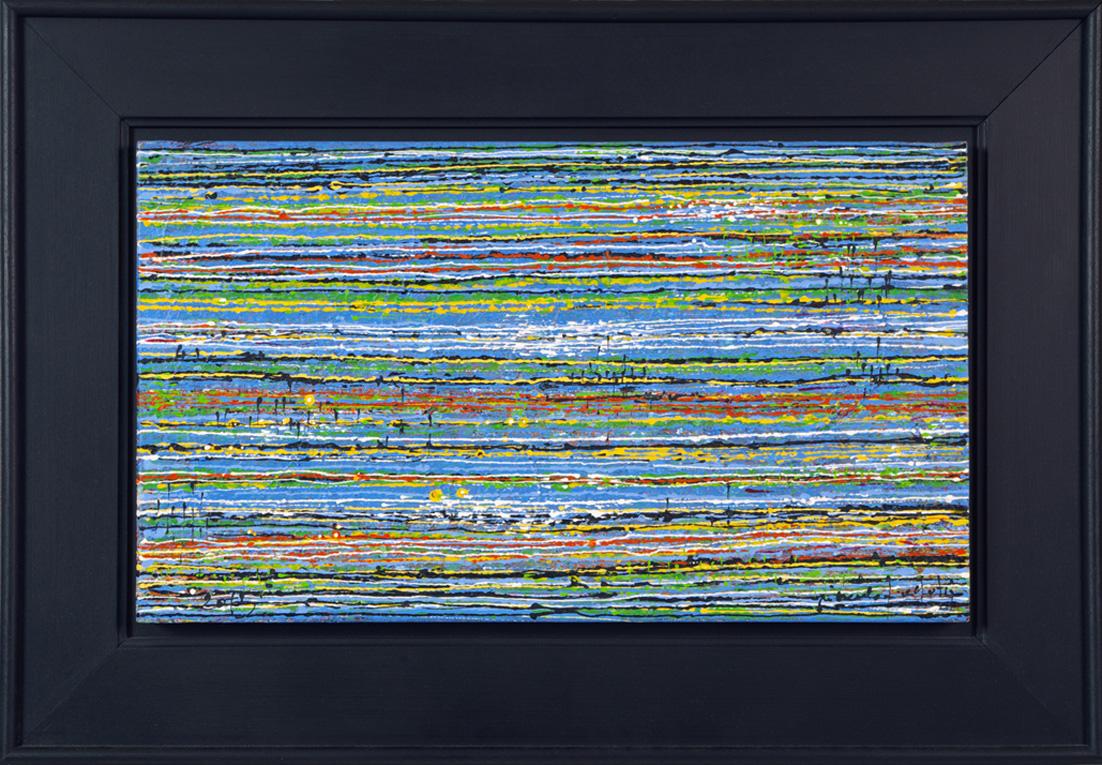 """"""" MARÉE BASSE II """"2016-Tech.mixte sur bois-77x54cm."""