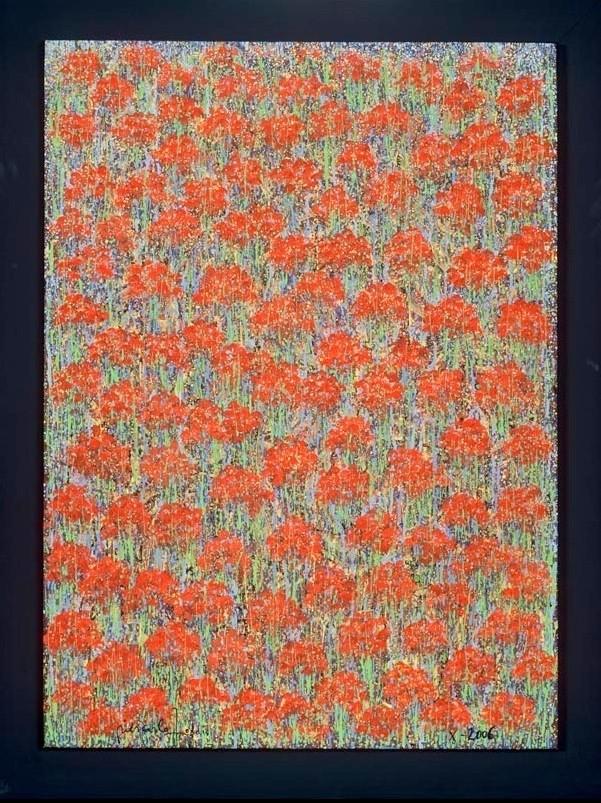 """"""" JANNA I """"   2006- Tech.mixte sur toile. dim.100x81cm."""