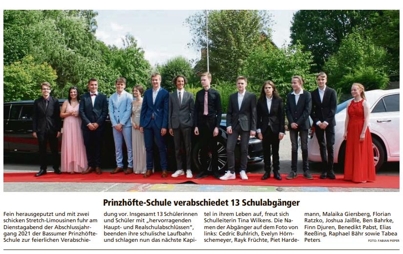 Abschlussjahrgang 2021 in der Kreiszeitung