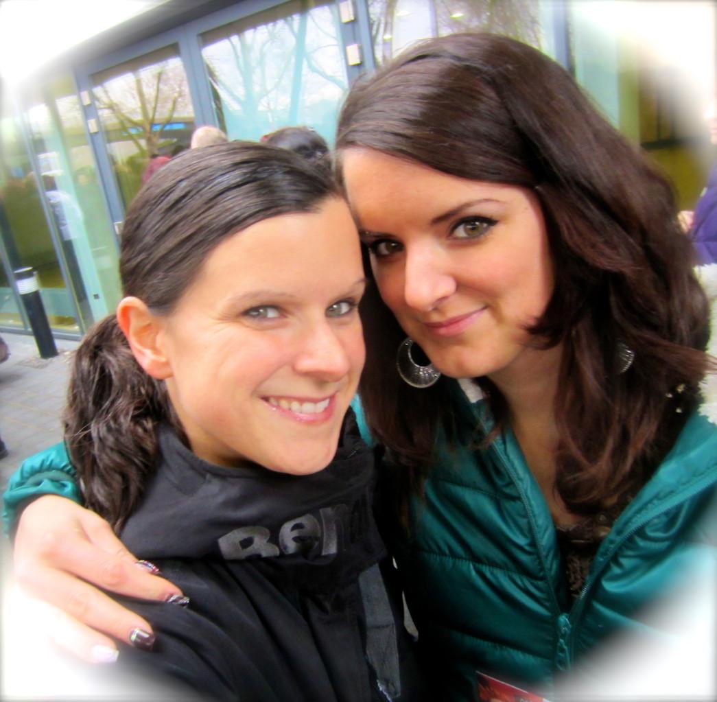 Mit meiner Schwester in der Porsche Arena