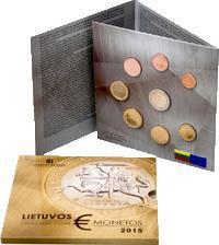 CARTERA OFICIAL - EUROSET MONEDAS LITUANIA - 2.015 - BU - SERIE 8 VALORES (SC/UNC) 29€.