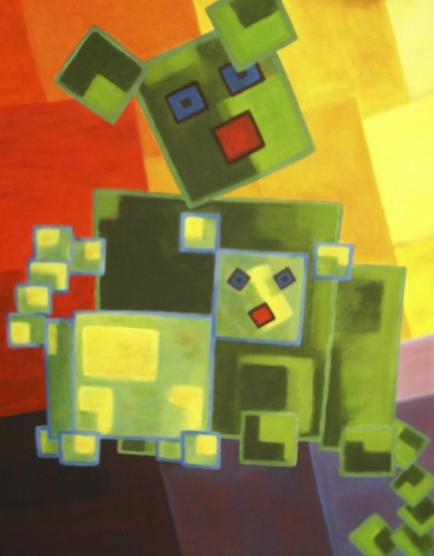 Chiens carrés - 60x80 - 2010