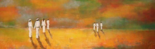 Blancs à l'aurore - 60x200 - 2013