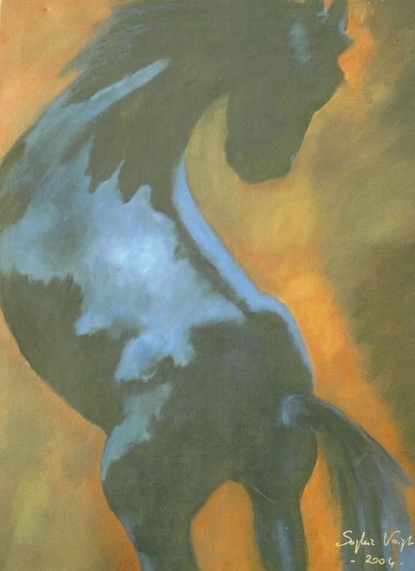 Cheval ruant - 60x80 - 2004