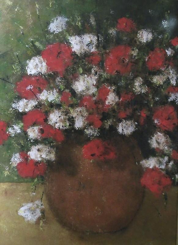 Fleurs des champs en bouquet - 80x60 - auf Spanplatte - 2008