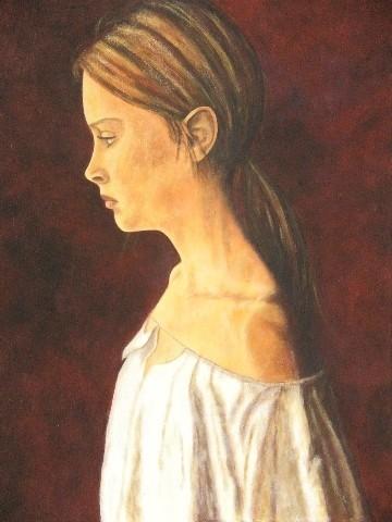 Jeune fille rêveuse - 80x100 - 2010