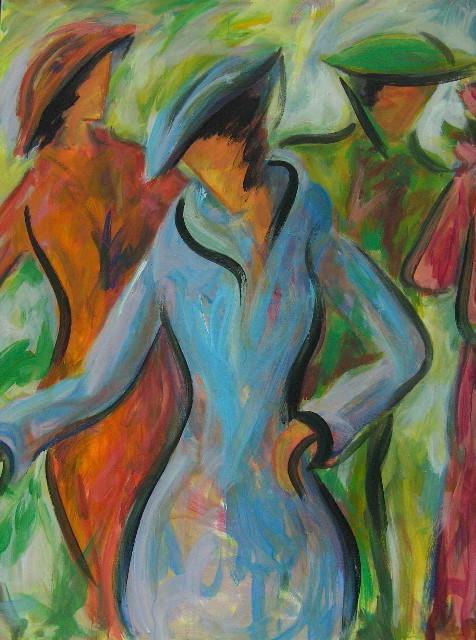 Gracieuses à chapeaux - 140x160 - 2009