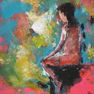 Petite rêveuse - 20x20 - 2013