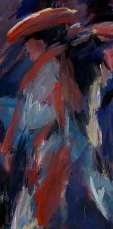 Élègante à chapeau - 40x80 - 2012