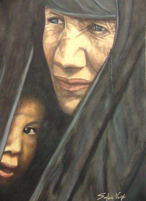 Femme irakienne à l'enfant - 80x100 - 2010