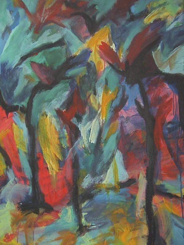 Arbres en têtes - 120x140 - 2009