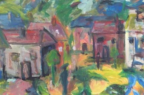 Maisons têtes - 120x80 - 2007