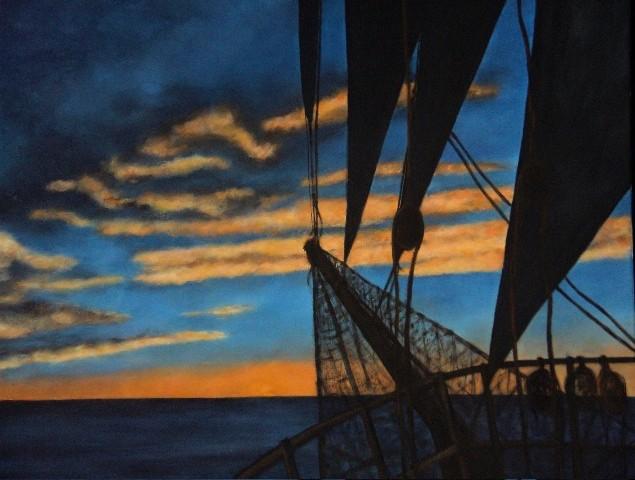Lever de soleil au Cap-Horn - 80x120 - 2009