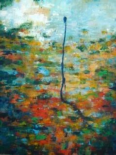 Sur l'étang - 200x160 - 2013