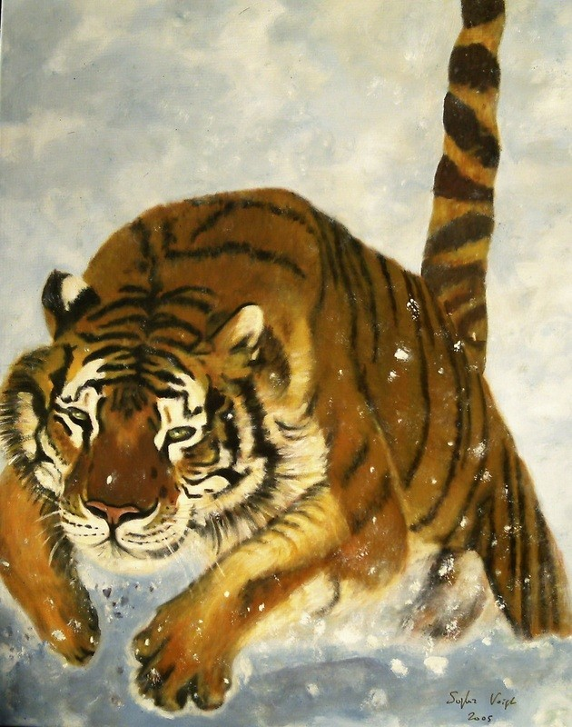 Tigre de Sibérie - 80x100 - 2006