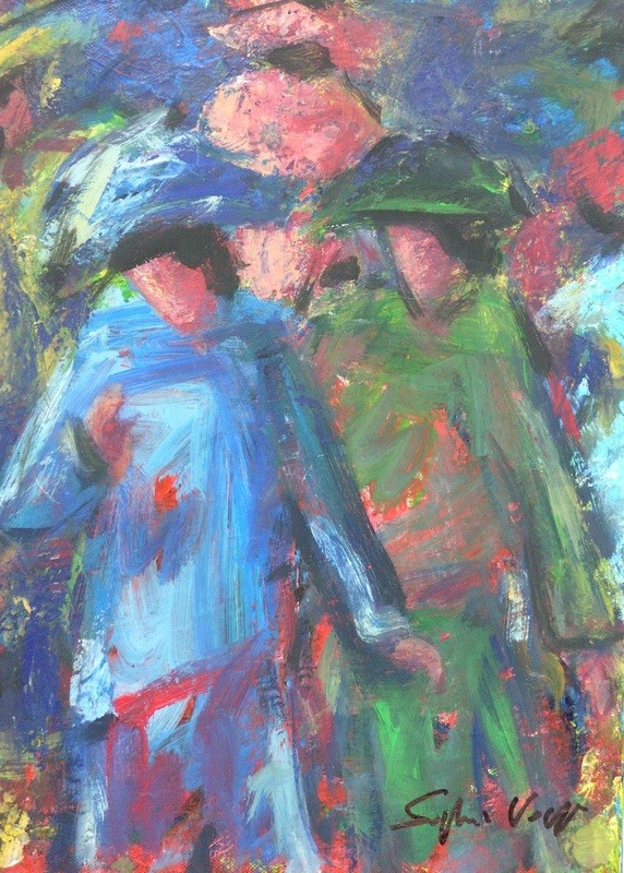 Deux dans la foule - 30x40 - 2008
