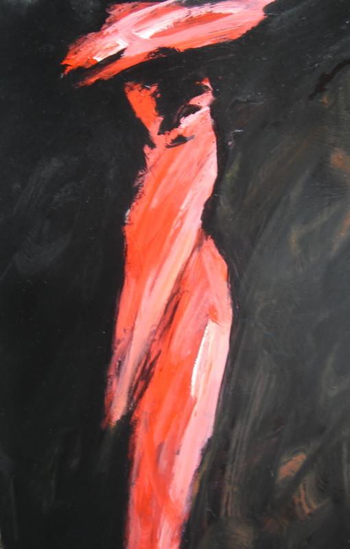 Rouge élègante - auf-Holz - 25x40- 2011