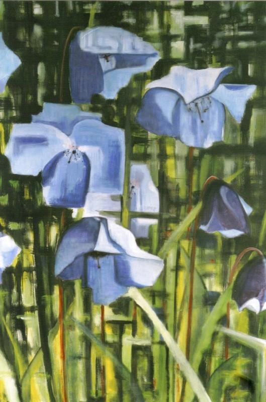 Coquelicots bleus - 100x150 - 2004