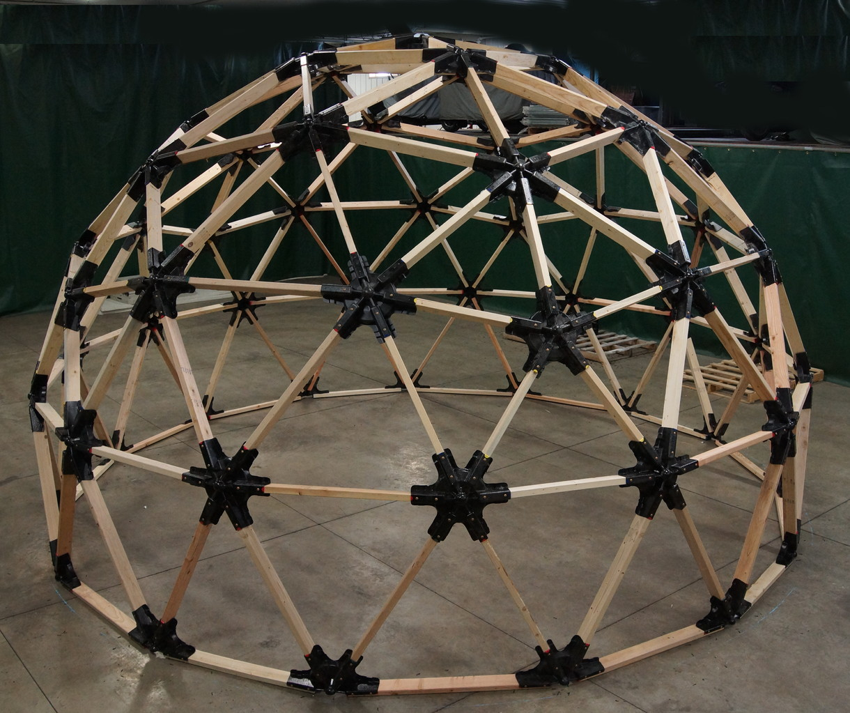 Dome Home Kits: 2x6 Heavy Duty Wood Geodesic Hub Kit