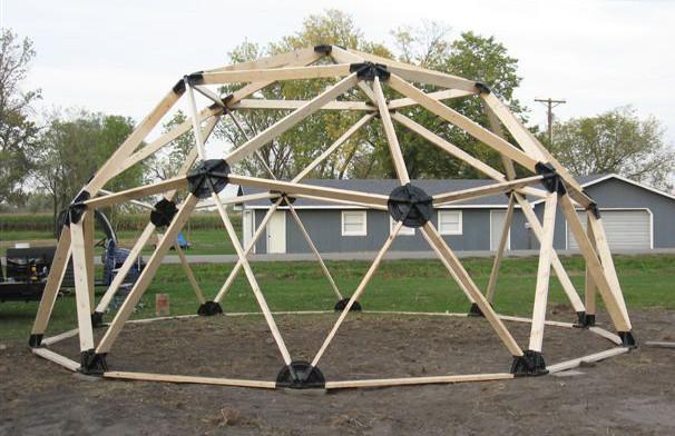2v 2x4 Wood Geodesic Hub Kit Geodesicdomekits Net
